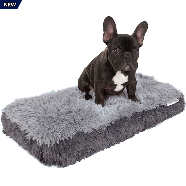 """Paws & Pals Gray Fuzzy Pet Bed, 14"""" L X 24"""" W X 2"""" H - Carousel image #1"""