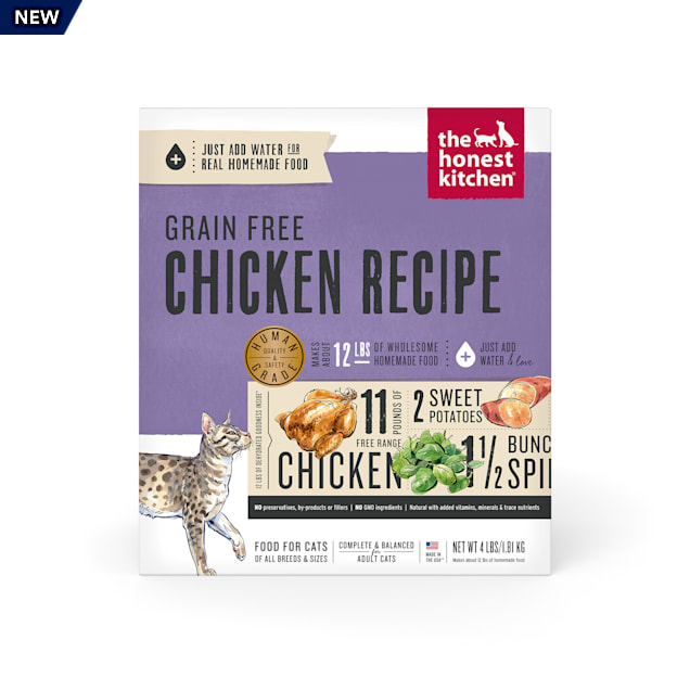The Honest Kitchen Dehydrated Grain Free Chicken Dry Cat Food, 4 lbs. - Carousel image #1