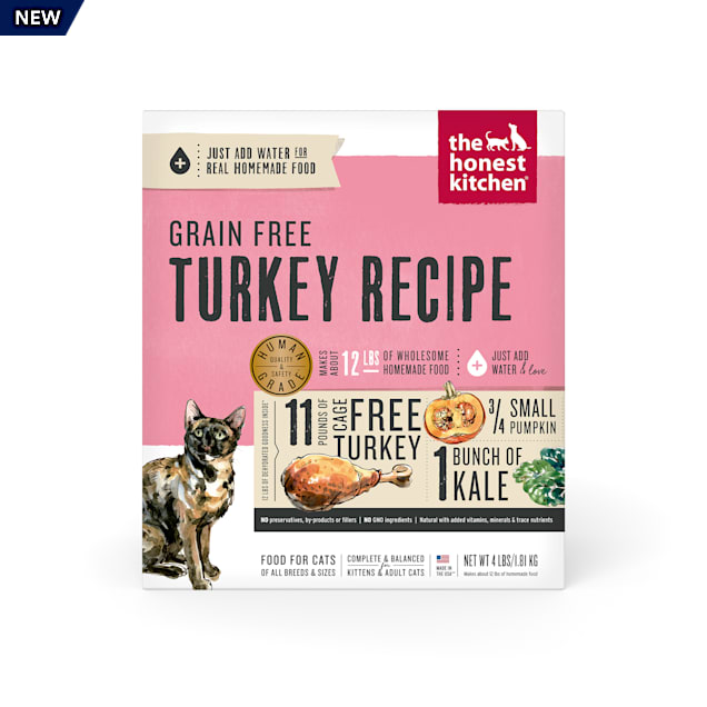 The Honest Kitchen Dehydrated Grain Free Turkey Dry Cat Food, 4 lbs. - Carousel image #1