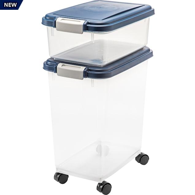 Iris Blue Airtight Pet Food Storage, Pet Food Storage Containers