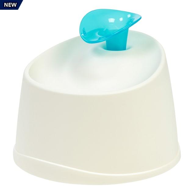 Iris White/Blue Pet Water Fountain - Carousel image #1