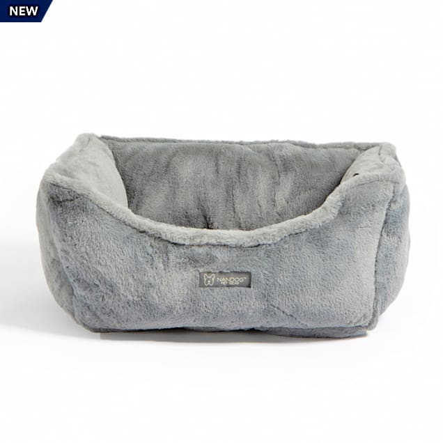 "Nandog Pet Gear Light Gray Cloud Collection Plush Pet Bed, 22"" L X 18"" W X 8"" H - Carousel image #1"