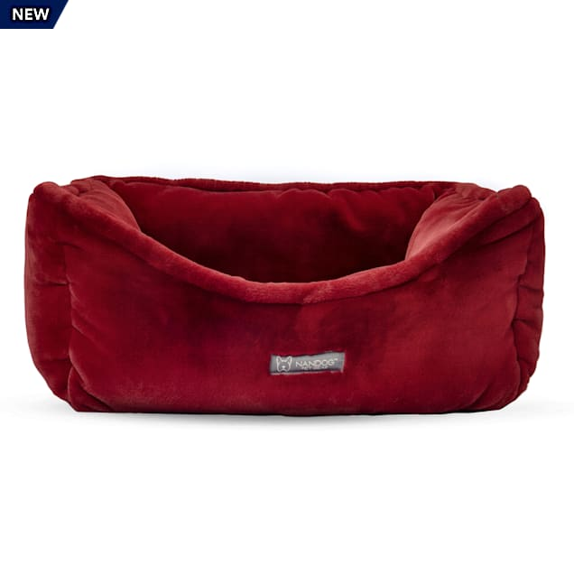 "Nandog Pet Gear Burgundy Cloud Collection Plush Pet Bed, 22"" L X 18"" W X 8"" H - Carousel image #1"