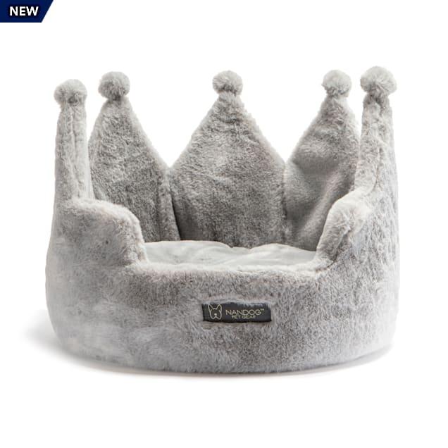 "Nandog Pet Gear Gray Cloud Collection Crown Pet Bed, 16"" L X 16"" W X 12"" H - Carousel image #1"