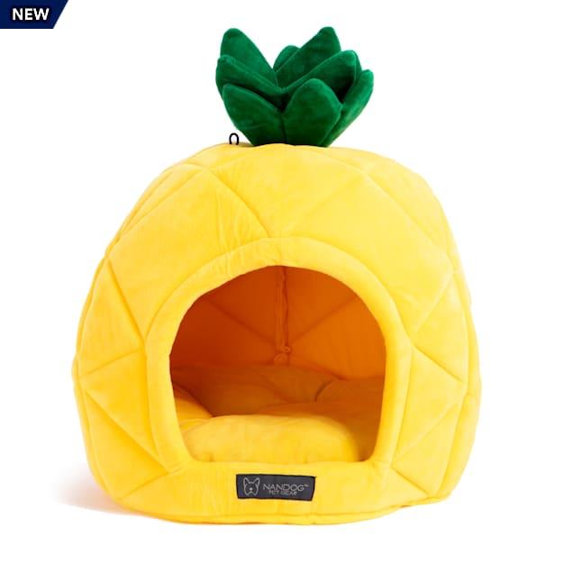 "Nandog Pet Gear Yellow Pineapple Pet Bed, 16"" L X 15"" W X 15"" H - Carousel image #1"
