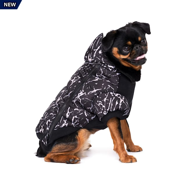 Canada Pooch Prism Dog Puffer Black Crackle Size 8, 3X-Small - Carousel image #1