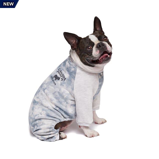 Canada Pooch Frosty Fleece Dog Sweatsuit Grey Tie Dye Size 8, 3X-Small - Carousel image #1
