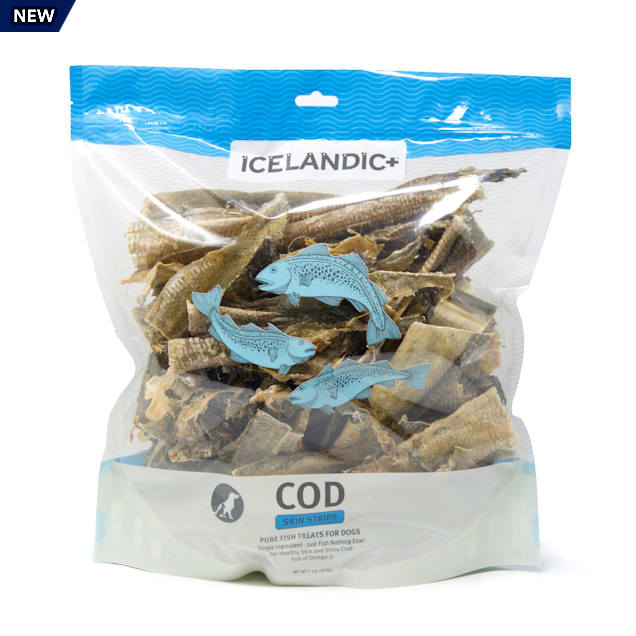 Icelandic+ Cod Skin Strips Dog Treats, 16 oz. - Carousel image #1