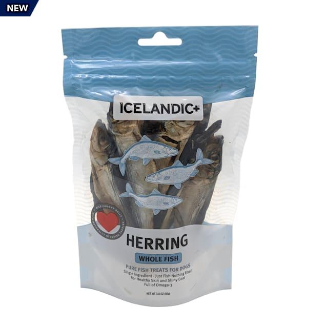 Icelandic+ Herring Whole Fish Dog Treats, 3 oz. - Carousel image #1