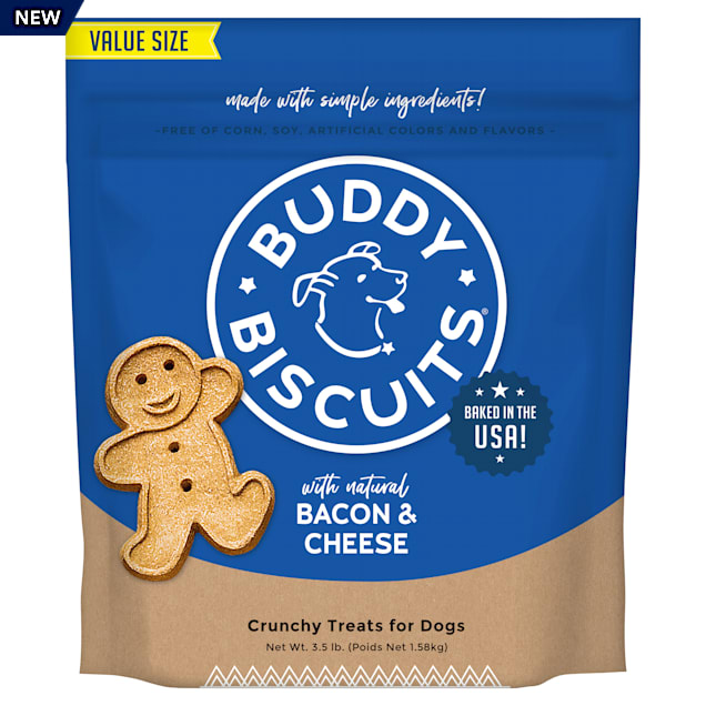 Buddy Biscuits Bacon & Cheese Oven Baked Dog Treats, 3.5 lbs. - Carousel image #1