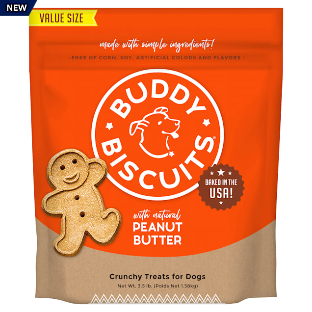 Buddy Biscuits Peanut Butter Oven Baked Dog Treats, 3.5 lbs. - Carousel image #1