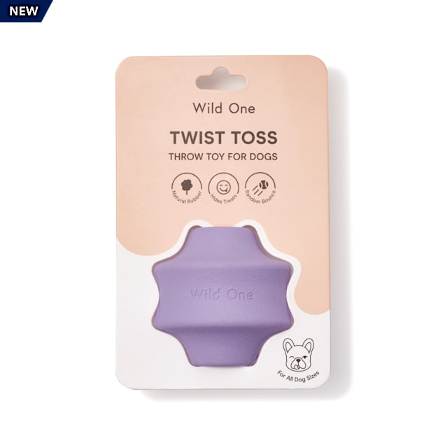 Wild One Lilac Twist Toss Dog Toy, Medium - Carousel image #1