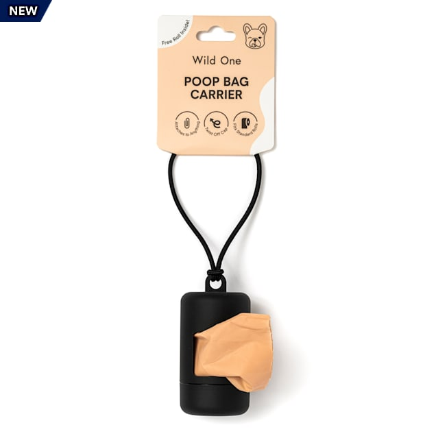 Wild One Black Poop Bag Carrier for Dogs - Carousel image #1