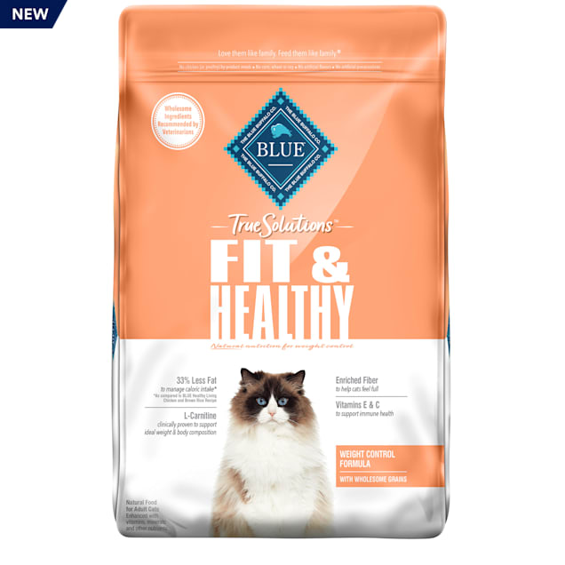 Blue Buffalo True Solutions Fit & Healthy Chicken Recipe Natural Weight Control Adult Dry Cat Food, 11 lbs. - Carousel image #1