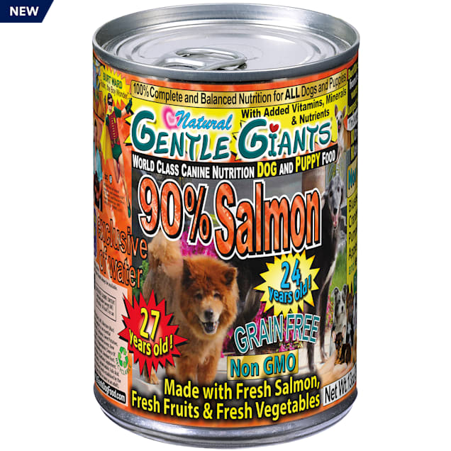 Gentle Giants 90% Salmon World Class Wet Dog Food, 13 oz., Case of 12 - Carousel image #1