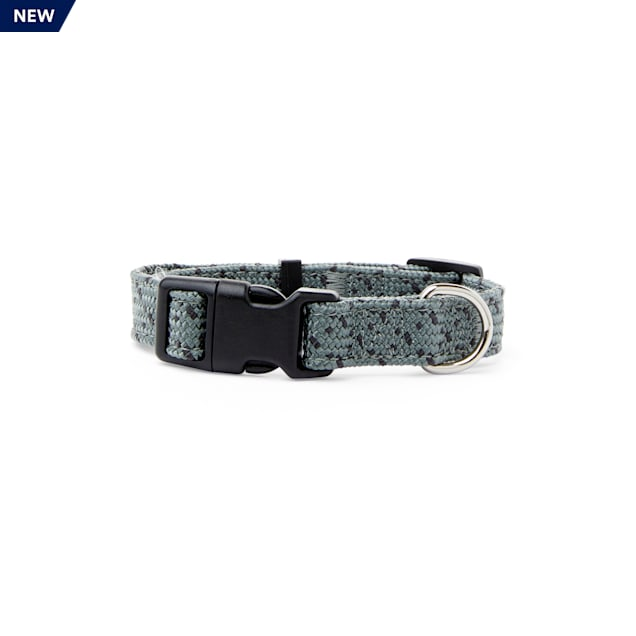 YOULY The Artist Grey & Black Dotted Webbed Nylon Dog Collar, Small - Carousel image #1