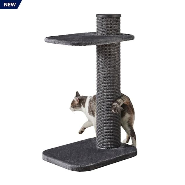 """Two by Two Maple 2 Level Grey Cat Tree, 23.23"""" L X 17.7"""" W X 38.19"""" H - Carousel image #1"""