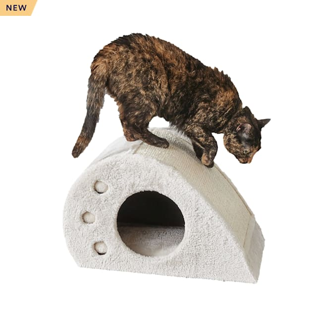 "Two by Two Magnolia Compact Cat Toy Condo and Scratching Station, 18.9"" L X 11.8"" W X 11.8"" H - Carousel image #1"