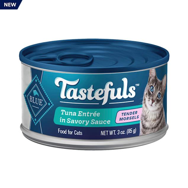 Blue Buffalo Blue Tastefuls Tuna Entree in Savoury Sauce Tender Morsels Wet Cat Food, 3 oz., Case of 12 - Carousel image #1