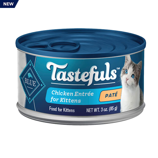 Blue Buffalo Blue Tastefuls Chicken Entree Pate Wet Food for Kittens, 3 oz., Case of 12 - Carousel image #1