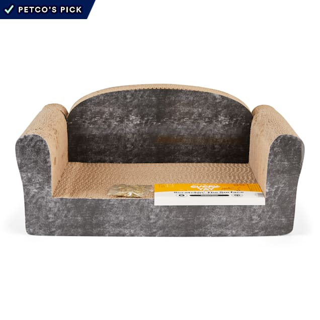 """EveryYay Scratchin' the Surface Cardboard Couch Cat Scratcher in Various Styles, 19.75"""" L X 11"""" W X 9"""" H - Carousel image #1"""