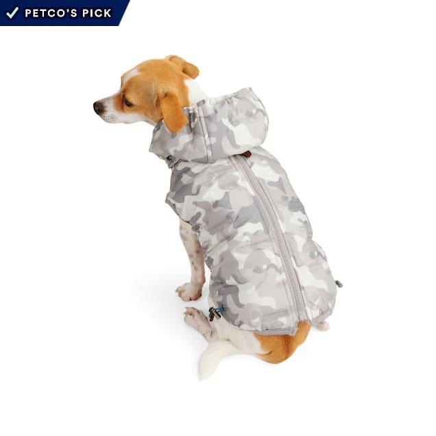 Reddy PrimaLoft Insulated Grey Camo Dog Puffer Vest, X-Small - Carousel image #1