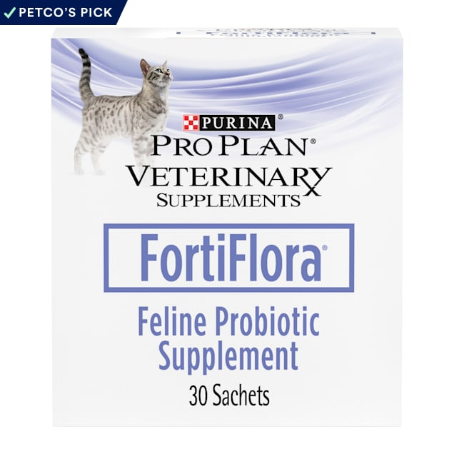 Purina Pro Plan Veterinary Supplement FortiFlora Feline Probiotic Powder for Cats, 1.06 oz., Count of 30 - Carousel image #1