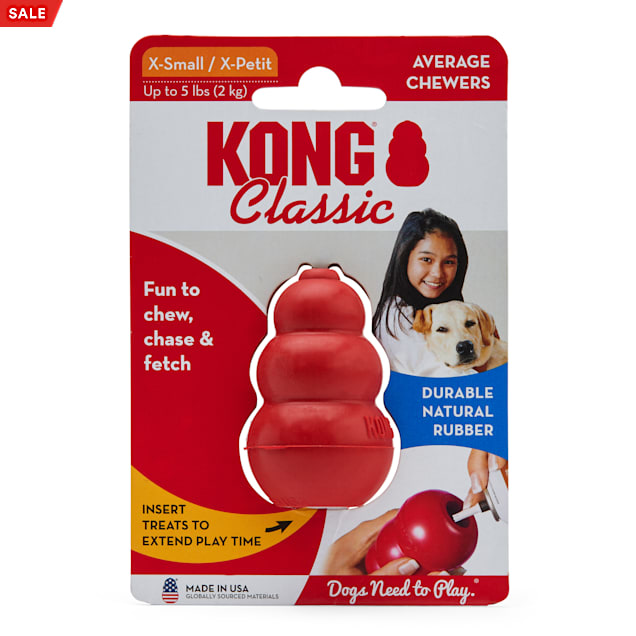 KONG Classic Dog Toy, X-Small - Carousel image #1