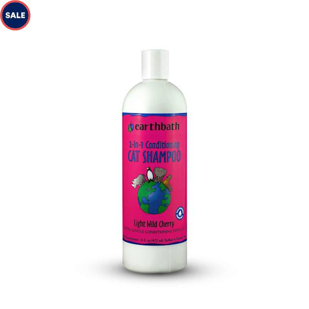 Earthbath 2-in-1 Conditioning Light Wild Cherry Cat Shampoo, 16 fl. oz. - Carousel image #1