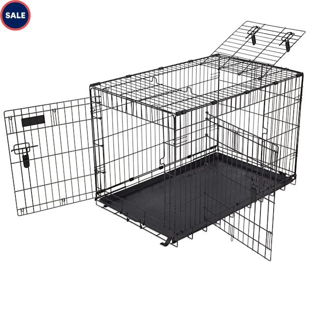 "Precision Pet 4000 Elite 3 Door Great Crate in Black, 36"" L X 23"" W X 25"" H - Carousel image #1"
