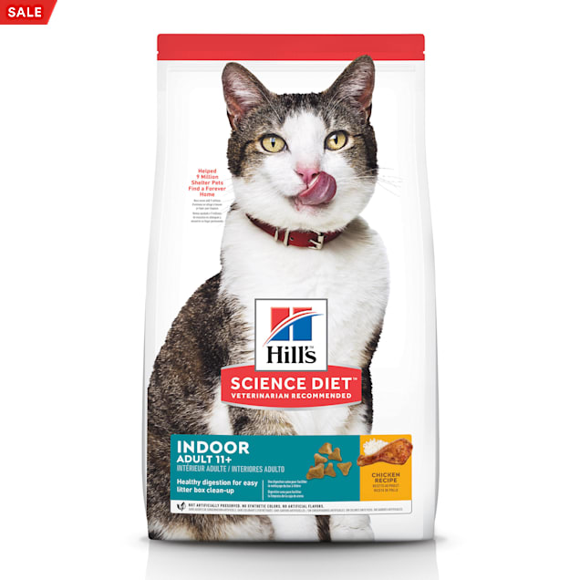 Hill's Science Diet Adult 11+ Indoor Chicken Recipe Dry Cat Food, 7 lbs. - Carousel image #1