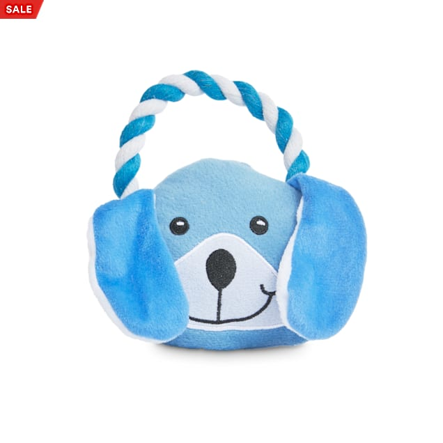 Petco 2 for 5 Toys Party Animal Plush Dog Toy with Rope Handle in Various Styles, Small - Carousel image #1