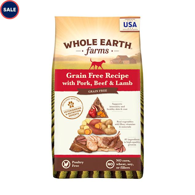 Whole Earth Farms Grain Free Pork, Beef and Lamb Recipe Dry Dog Food, 25 lbs. - Carousel image #1