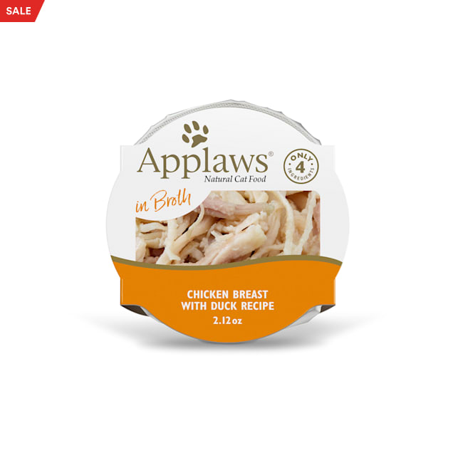 Applaws Natural Chicken Breast with Duck in Broth Wet Cat Food, 2.12 oz., Case of 18 - Carousel image #1
