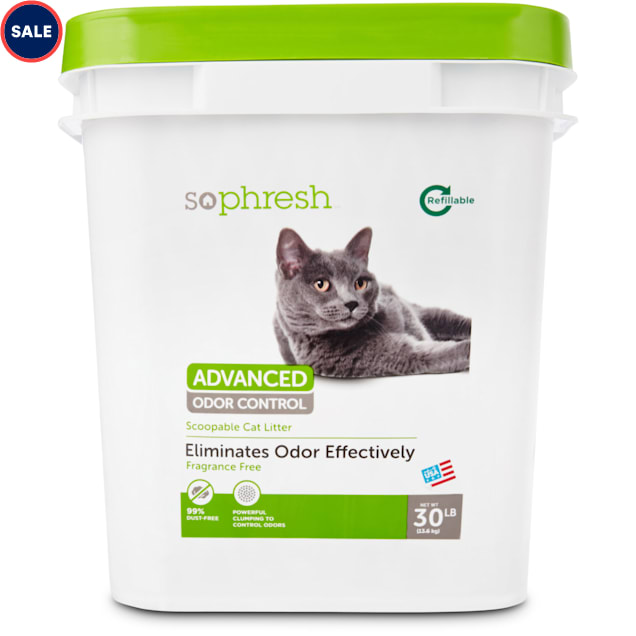 So Phresh Advanced Odor Control Scoopable Fragrance Free Cat Litter, 30 lbs. - Carousel image #1