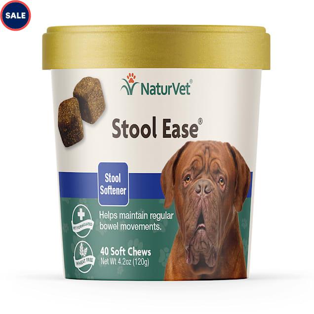 NaturVet Stool Ease Stool Softener Dog Soft Chews, Pack of 40 chews - Carousel image #1