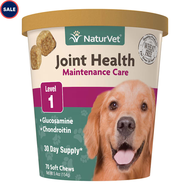 NaturVet Joint Health Maintenance Care Dog Soft Chews, Pack of 70 chews - Carousel image #1