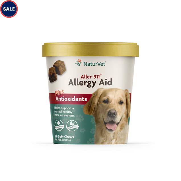 NaturVet Aller-911 Allergy Aid Dog Soft Chews, Pack of 70 chews - Carousel image #1