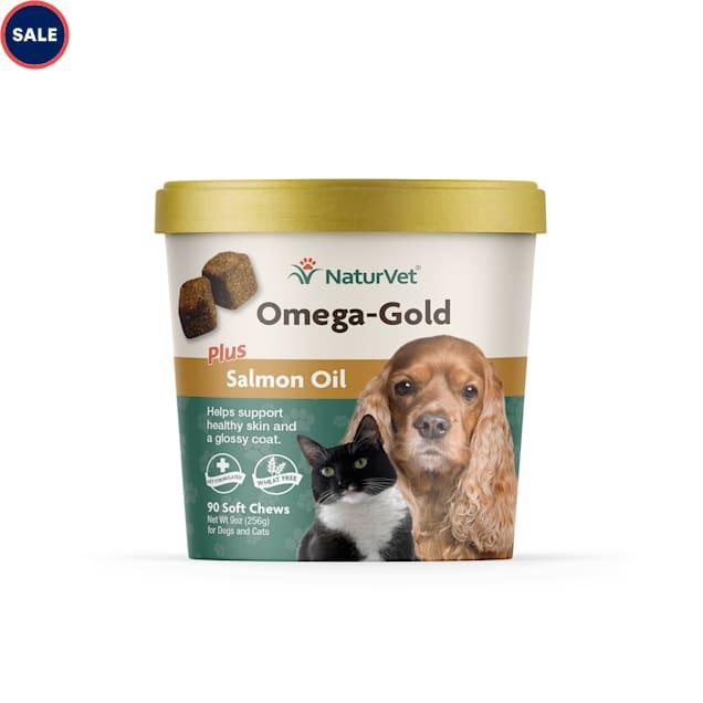 NaturVet Omega-Gold Salmon Oil Dog Chews, Pack of 90 chews - Carousel image #1