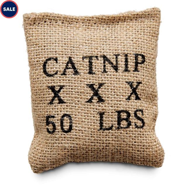 "Leaps & Bounds Burlap Bag Catnip Cat Toy, 4"" L X 3"" W - Carousel image #1"