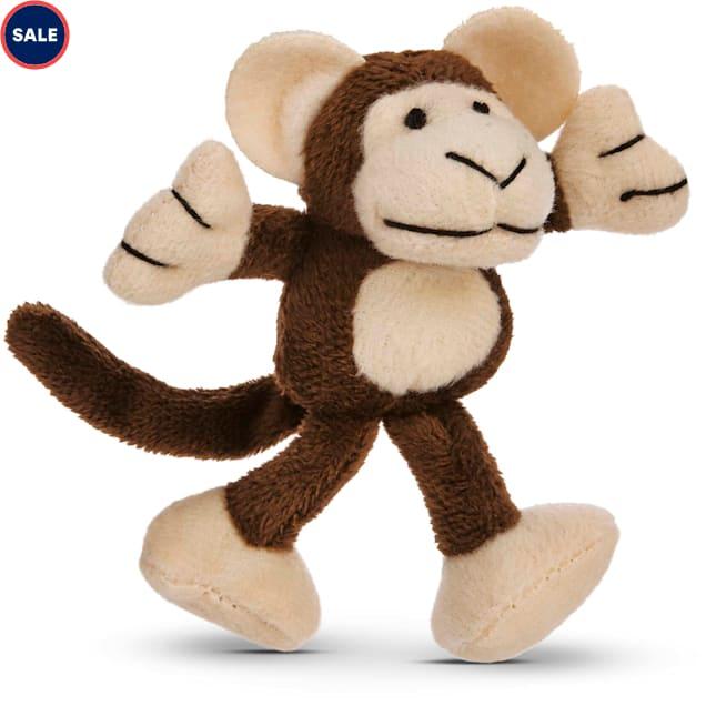"Leaps & Bounds Cuddle Monkey Catnip Cat Toy, 4.5"" Length - Carousel image #1"