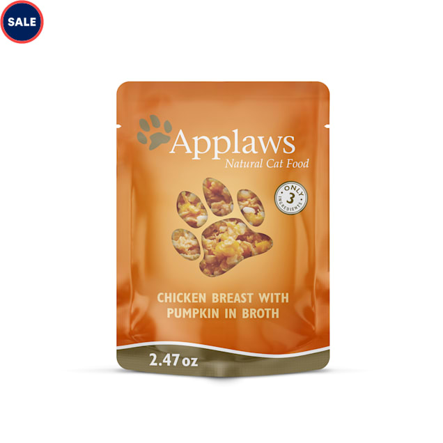 Applaws Natural Grain Free Chicken Breast with Pumpkin in Broth Wet Cat Food, 2.47 oz., Case of 12 - Carousel image #1