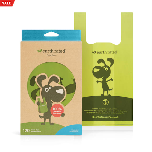 Earth Rated Unscented PoopBags Handle-Tie Dog Waste Bags, Pack of 120 Bags - Carousel image #1