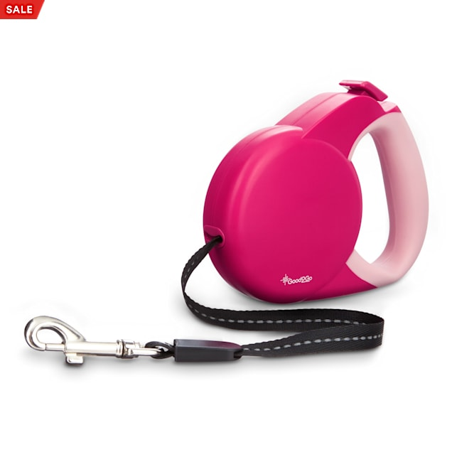 Good2Go Retractable Pink Cat Leash, Small - Carousel image #1