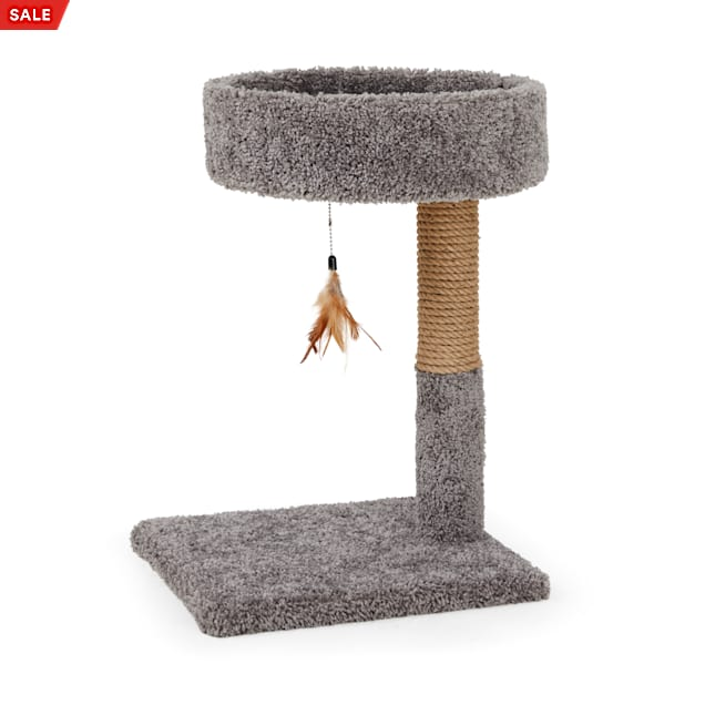 """You & Me Cat Tree with Replaceable Toy, 13.5"""" W X 15.5"""" D X 24"""" H - Carousel image #1"""