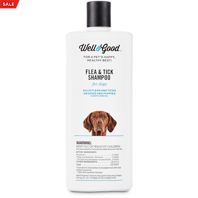 Well & Good Flea and Tick Treatment Shampoo for Dogs & Puppies, 16 fl. oz. - Carousel image #1
