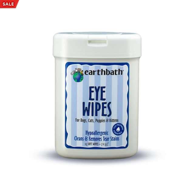 Earthbath Eye Wipes for Pets, Count of 25 - Carousel image #1