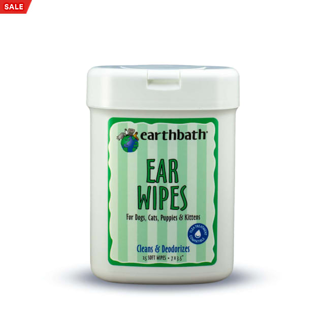 Earthbath Ear Wipes for Pets, Count of 25 - Carousel image #1
