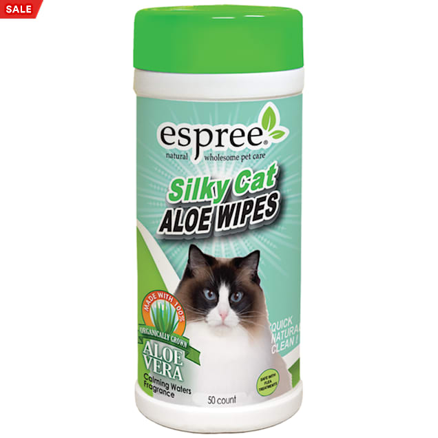 Espree Silky Cat Aloe Wipes, 50 ct - Carousel image #1