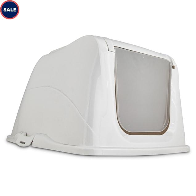 So Phresh Flip Top Cat Litter Box Hood in White, X-Large - Carousel image #1